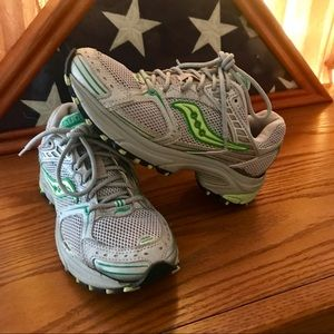 FREE!!!! Saucony green and gray sneakers